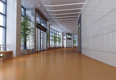 3d futuristic corridor, hall — Stock Photo