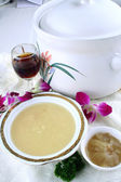 Food in china - shark fin soup — Stock Photo