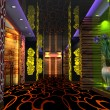 3D club hall, corridor — Stock Photo #20035509