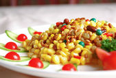 China delicious food-- corn and pine nuts — Stock Photo
