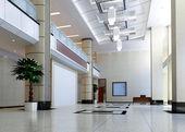 3d modern hall,corridor — Stock Photo