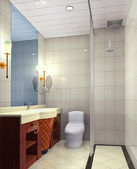 3d bathroom — Stock fotografie