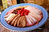 Chinese food- duck blood in chili sauce — Stock Photo
