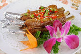 China delicious food--fried pork ribs — Stock Photo