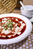China delicious food Fish spawn and tofu — Stock Photo