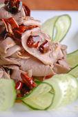 Pepper fried duck intestine — Stock Photo