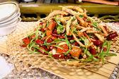 Chinese food -chili fried squid — Stock Photo
