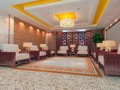 3d reception room rendering — Stock Photo