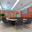 Stock Photo: 3d meeting room
