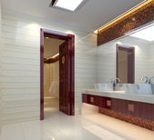 3d bathroom — Stock Photo