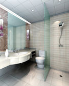 3d bathroom — Foto Stock