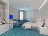 Rendering 3d di camera da letto, camere — Foto Stock