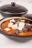 Tofu and duck blood — Stock Photo