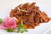 Pork kidney and vegetable — Stock Photo