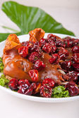Meat and Jujube — Stock Photo