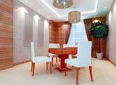 3D chess room — Stock Photo