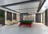 Ping Pong table in room, 3D render — Stock Photo