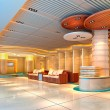 3d modern hall, corridor — Stock Photo #22244035