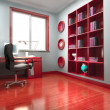 3d modern office room - Stock Photo