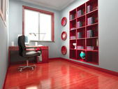 3d modern office room — Stock Photo