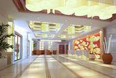3d futuristic corridor, hal — Stock Photo