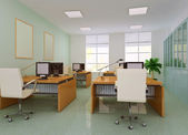 3d modern office roo — Stock Photo