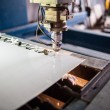 Steel cutting — Stockfoto
