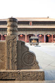 Bâtiments anciens de chine taishan, daimiao — Photo