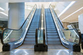 Shopping mall escalators — Foto Stock