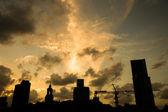 Shanghai sunset — Stock Photo