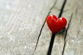 красное сердце — Стоковое фото