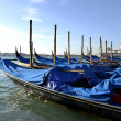 Gondolas in Venice — Stock Photo