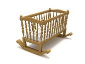 Wooden cradle — Stock Photo