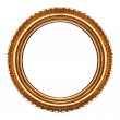 Old retro round wooden picture frame — Stock Photo #19345559