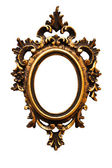 Very old retro oval golden old frame — Stock Photo