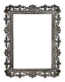 Old metallic picture frame, isolated on white background (No#13) — Stock Photo