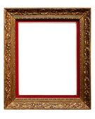 (ない #14b 白で隔離され、古いゴールデン レトロなフレーム) — ストック写真
