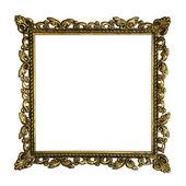 Old golden retro frame, isolated on white (No#4b) — Stock Photo