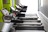 High technology motorized Treadmills in a row — Stock Photo