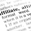 Affiliate word dictionary — Stock Photo