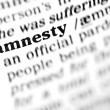 Amnesty word dictionary — Stock Photo