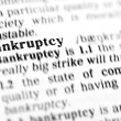Stock Photo: Bankruptcy word dictionary
