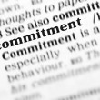 Commitment word dictionary — Stock Photo #19644185