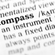 Stock Photo: Compass word dictionary