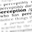 Perception word dictionary — Stock Photo