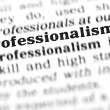Stockfoto: Professionalism word dictionary