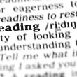 Stock Photo: Reading word dictionary