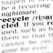 Stock Photo: Recycle word dictionary