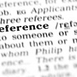 Reference word dictionary — Stock Photo
