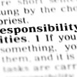 Responsibility word dictionary — Stock Photo #19645209